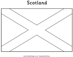 scotland flag coloring page murderthestout