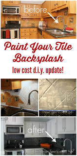 How To Do Tile Backsplash In Kitchen How To Paint A Tile Backsplash My Budget Solution Designer Trapped