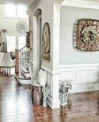 new england farmhouse neutral paint color scheme grey family