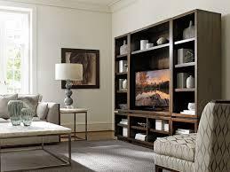 Contemporary Secretary Desk by Macarthur Park Royce Small Bunching Bookcase Lexington Home Brands