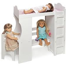 Badger Bunk Bed Badger Basket Doll Loft Bed With Desk Armoire And Chair Walmart