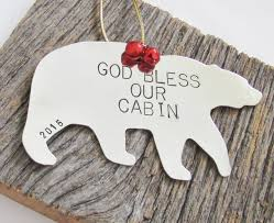 god bless our home ornament cabin decor rustic ornament christmas