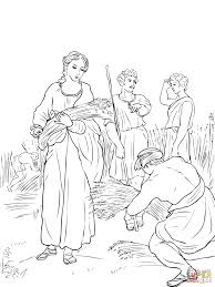 ruth working in the fields coloring page free printable coloring