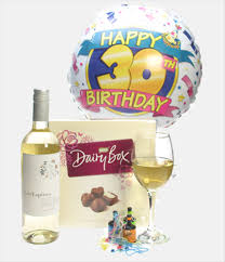 30th birthday delivery 30th birthday white wine and chocolates price inc next day delivery