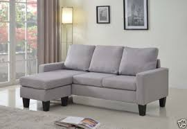 Sofa With Reversible Chaise Lounge grey fabric sectional sofa w reversible chaise lounge living room