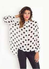 trendy blouses trendy polka dot print chiffon shirt womens shirts blouses