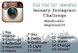 How To Do Challenge January Instagram Challenge Myclean2014 Real Food