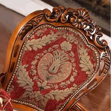 Dining Chair Foam Antique Carved Wood Dining Chair With Foam Fabric Cover 2 Pcs By
