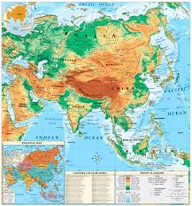 map of asai physical map of asia for geography roundtripticket me