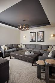 Basement Paint Color Walls Are Benjamin Moore Revere Pewter And - Living room ceiling colors
