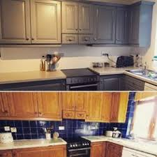 kitchen tile paint ideas newly painted grey kitchen white ronseal tile paint and
