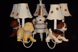 Nursery Chandelier Lighting Childrens Chandelier Puppy Dog Theme
