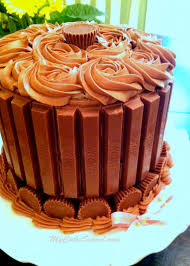 easy kit kat cake with reese u0027s cups cake tutorial my cake