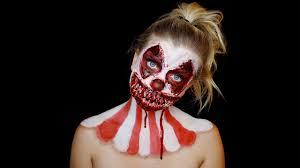 killer clown makeup halloween killer clown halloween makeup tutorial hayley walker youtube