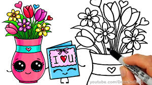 Vase Of Flowers Drawing Drawn Vase Cartoon Pencil And In Color Drawn Vase Cartoon