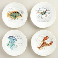 Nautical Themed Dinnerware Sets - nautical table decor with blue dishes u0026 sea life plates shop the