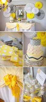 yellow and gray baby shower decorations 50 best grey white baby shower theme images on