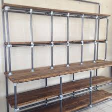 Shabby Chic Spice Rack Vintage Industrial Pipe And Plank Shelving Shabby Chic At 1stdibs