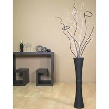 Branches In A Vase White Mitsumata With Black Branches In Black Vase Free Shipping