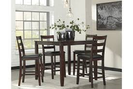 maysville counter height dining room table maysville counter height dining room table and bar stools set of 5