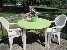 Patio Furniture Round White Resin Round Patio Table Starrkingschool