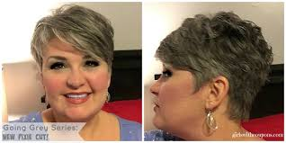 simple hairstyle for going grey hairstyles going grey haircut