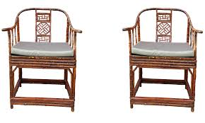 four lucite rattan or bamboo ficks reed armchairs for sale at
