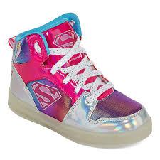 big kids light up shoes warner brothers supergirl light up girls sneakers little kids big