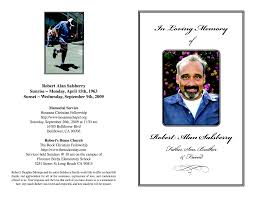 memorial service programs templates free 10 best images of free printable memorial program template