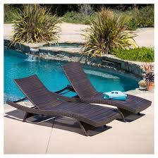 In Pool Chaise Lounge Toscana Set Of 2 Wicker Patio Chaise Lounge Brown Christopher