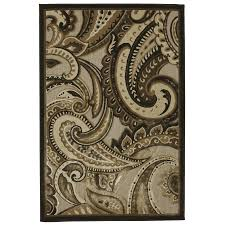 Paisley Area Rug Shop Mohawk Home Brown Paisley Brown Rectangular Indoor