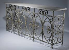 Wrought Iron Console Table Wrought Iron Console Table In Simple Style Thedigitalhandshake