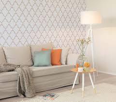 Wohnzimmer Design Tapete Vliestapete Barock Anthrazit Grau Tapete Rasch Sophie Charlotte