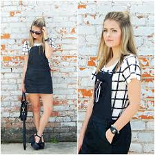 black and white patterned dress lookbook