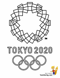 Olimpics Flag Olympics Mascot Coloring Pages Free Olympic Flags Torches