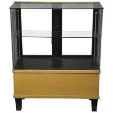 Mahogany Display Cabinets With Glass Doors by Tall Antique Mahogany And Glass Door Mercantile Cabinet For Sale