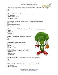 Health And Wellness Worksheets For Broccoli Brad Choice Worksheet For Elementary Children