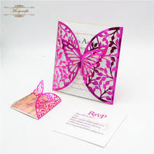 butterfly invitations buy pink butterfly invitations and get free shipping on aliexpress