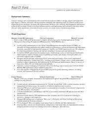 Crisis Management Resume Catchy Background Summary Entry Level Project Manager Resume
