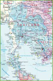 Detailed Map Of Mexico by Large Detailed Map Of Thailand With Airports Resorts And Beaches
