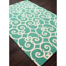 Teal Outdoor Rug Flourish Teal Blue Indoor Outdoor Rug U2013 Sky Iris