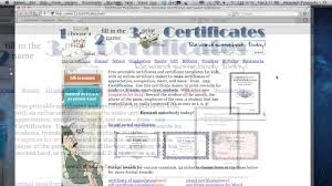 Free Online Certificate Template How To Create Printable Award Certificates Online Youtube