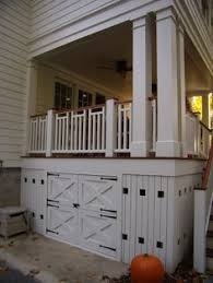 skirting deck for looks and storage little farm ideas