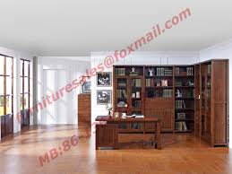 wood antique design furniture desk with drawers in home study room use