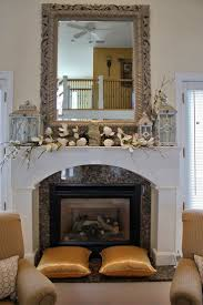 decor for fireplace decorating fireplace mantel with lanterns interior design ideas