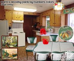cabin remodeling knotty pine paneling wood kitchen cabinets