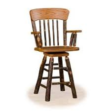 24 Inch Chairs With Arms Amish Built Rustic Lodge Swivel Hickory Hoop Bar Stool Bar