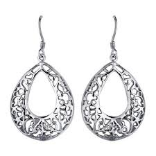 silver teardrop earrings silver the precious metal silver information and pictures