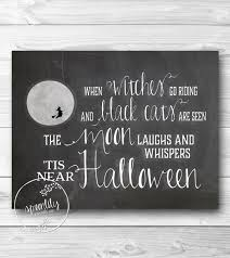 halloween decor art print chalkboard wall art print 2014