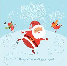 funny and cute christmas card royalty free cliparts vectors and